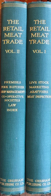 (Butchery) Collinge, G.H., T. Dunlop Young, & A.P. McDougall, eds.   The Retail Meat Trade.