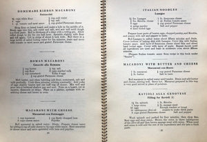 (Italian-American) North Bennet Street Industrial School. Specialita Culinare Italiane: 137 Tested Recipes of Famous Italian Foods.