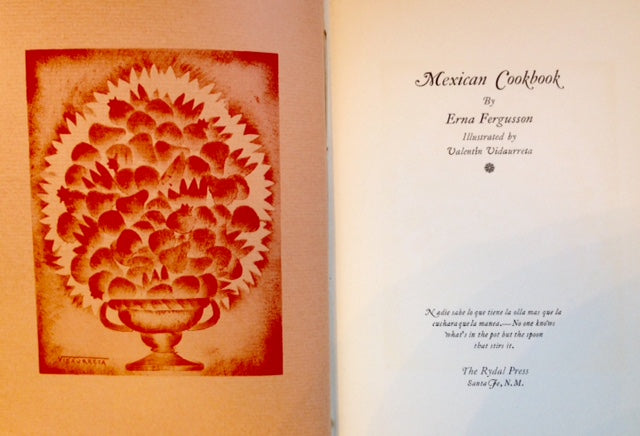 Fergusson, Erna. Mexican Cookbook.