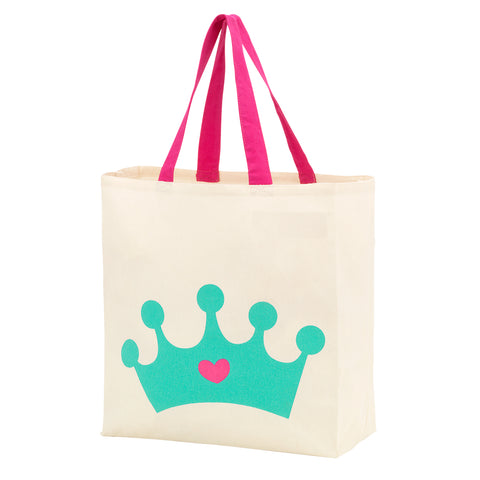 Princess Crown Canvas Tote