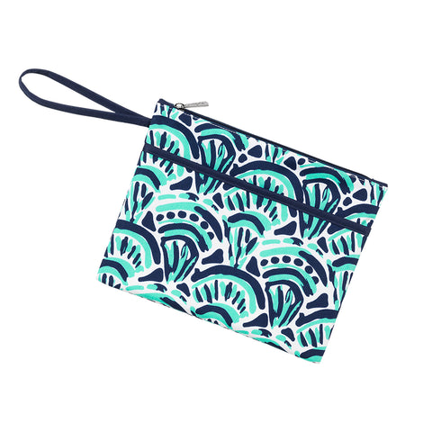 Make Waves Zip Pouch Wristlet