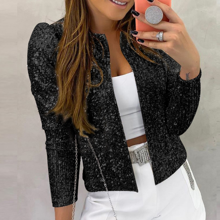 Sexy Long Sleeve Sequined Jacket