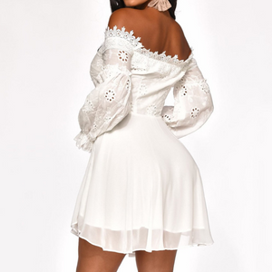 Lace Long Sleeve Sexy Off-Shoulder Dress