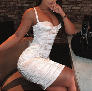 Sexy High Waist Zipper Sleeveless Hip Dress
