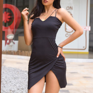 Sling Sexy V-Neck Backless Dress