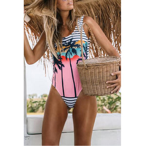 Sexy Slim Print One-Piece Swimsuit
