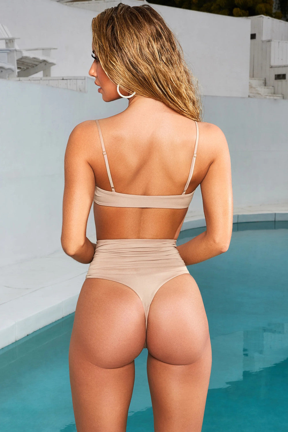 Sexy High Waist Bikini Split Swimsuit