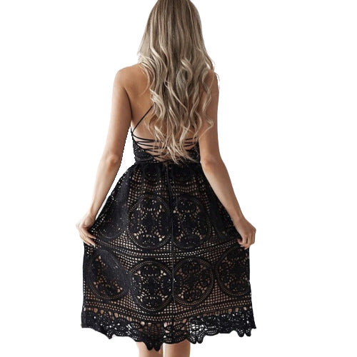 Lace Sexy V-Neck Sleeveless Dress