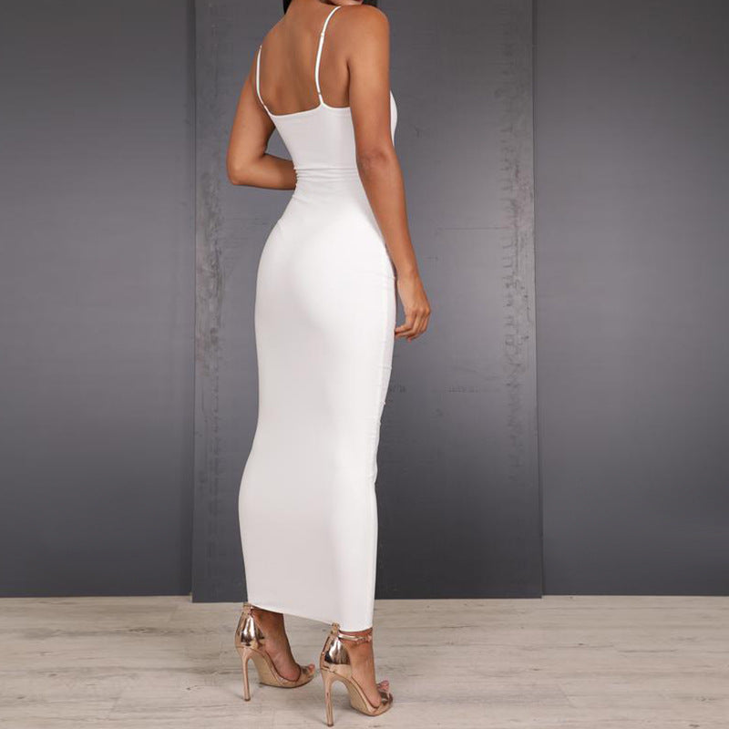 Open Back Package Hip Dress