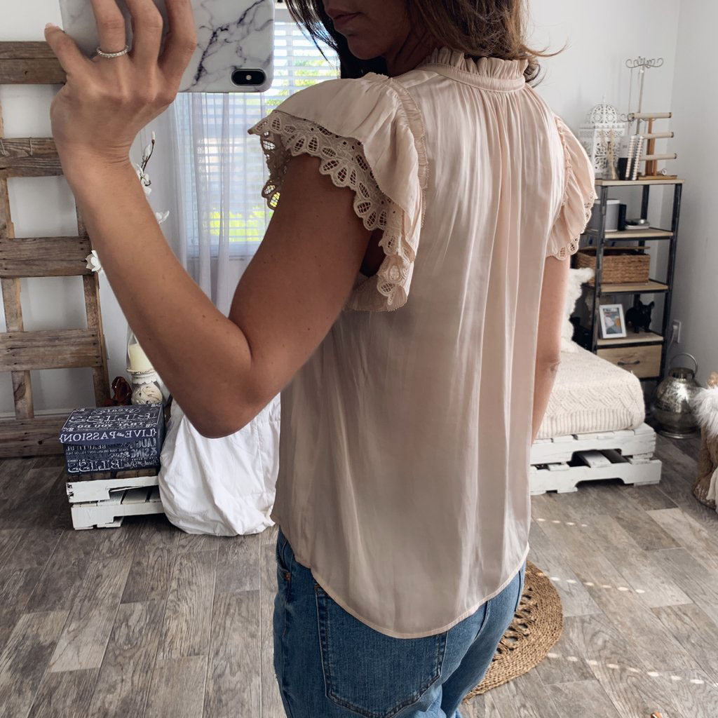 Lace Sweet Bow Short-Sleeved Shirt