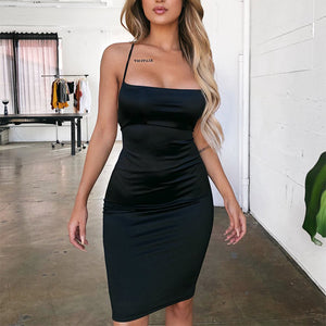 Sexy Halter Mini Dress