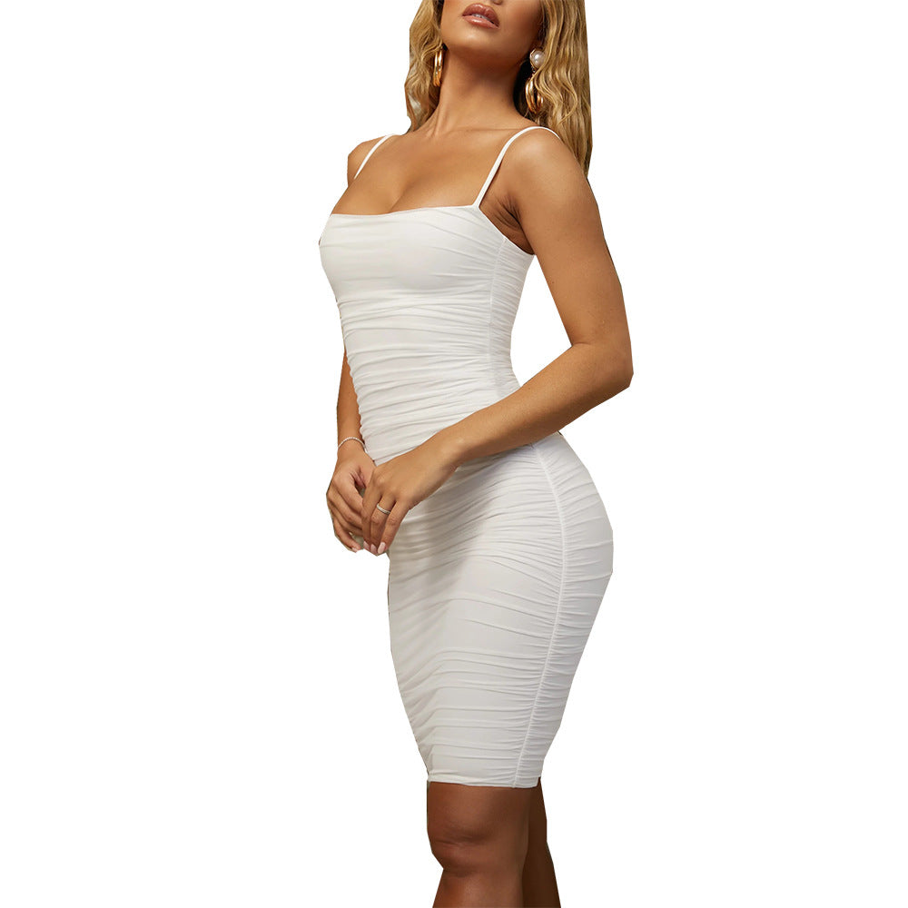Solid Color Women'S Sexy Sling Dress