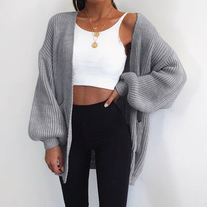 Casual Solid Color Loose Cardigan Coat