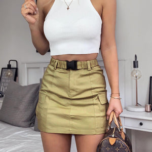 Sexy Women'S Pocket Bag Hip Skirt