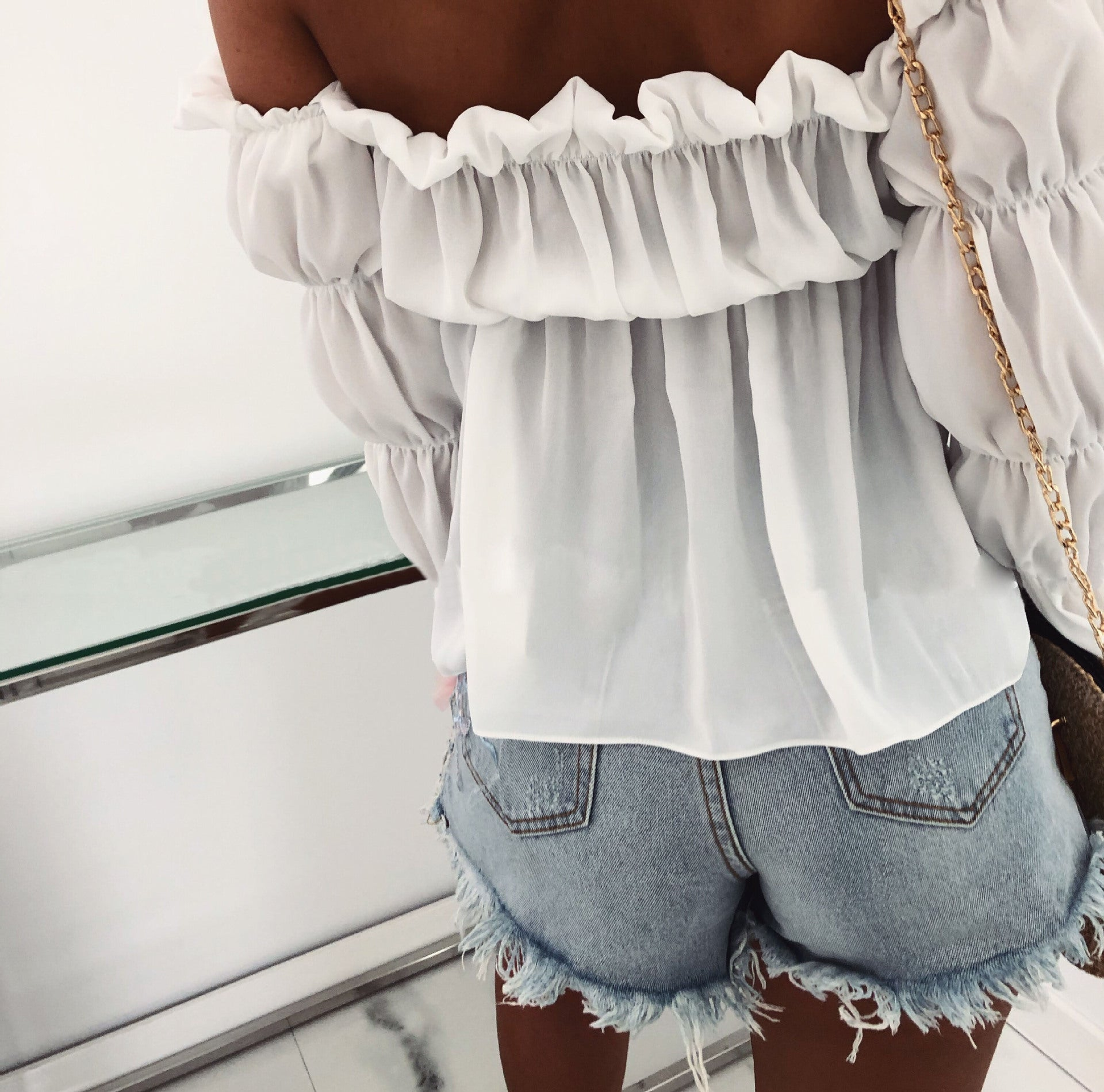 Off-The-Shoulder Sexy Long-Sleeved Top