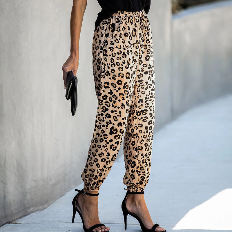 Fashion Printed Leopard Casual Pants