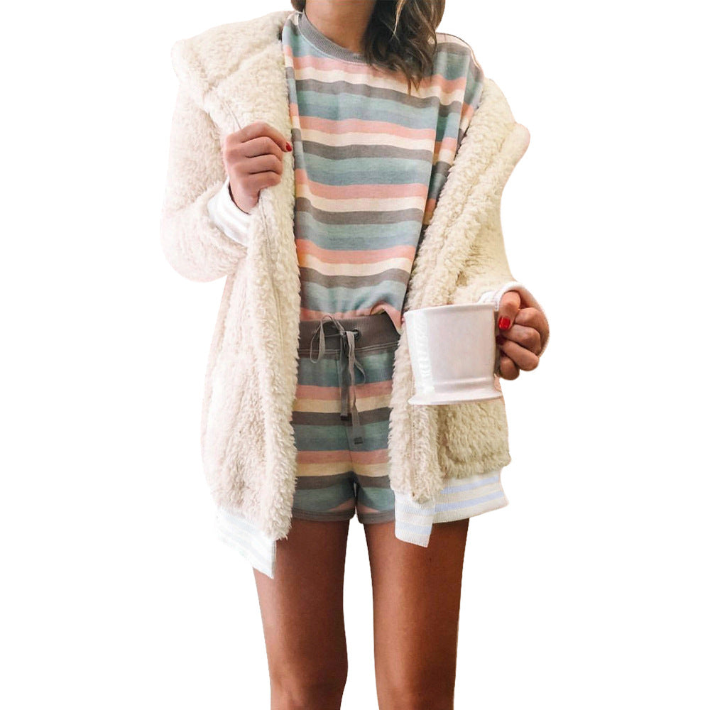 Solid Color Long-Sleeved Cardigan Jacket