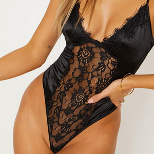 V-Neck Fashion Sexy Jumpsuit Underwear