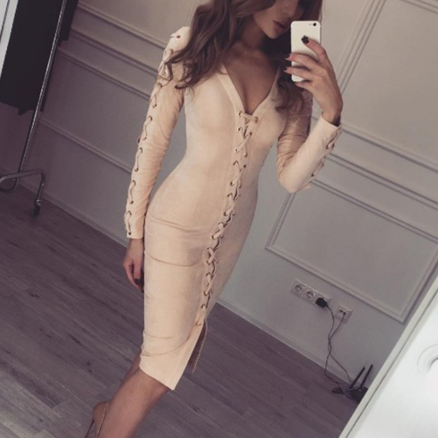 Sexy Long-Sleeved Dress