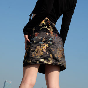 Women'S Embroidery Hip Skirt