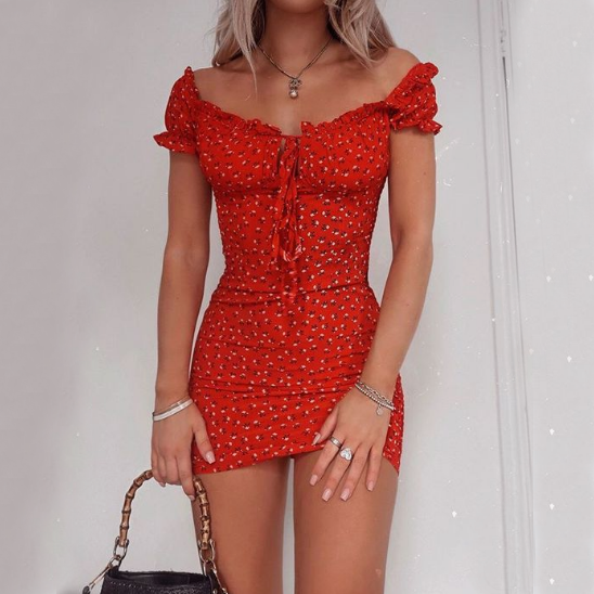 Fashion Slim Sexy Print Dress