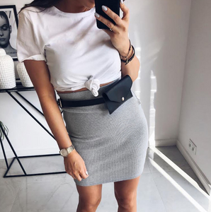 Casual Fashion High Waist Hip Skirt