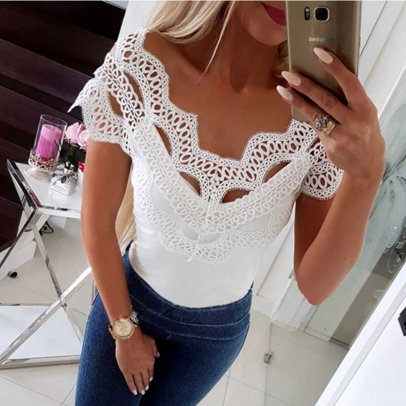 Lace One Word Collar Top