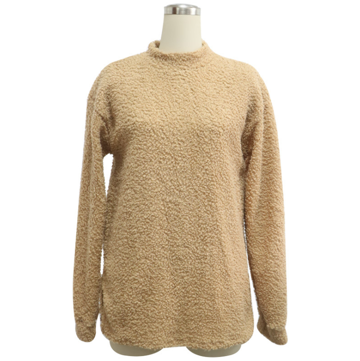 Women'S Round Neck Long Sleeve Sweater