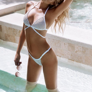 Solid Color Split Swimsuit Bikini