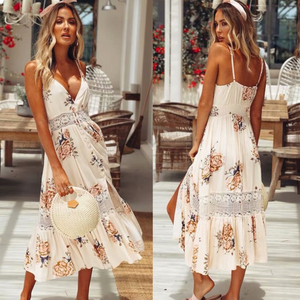 Women'S Sexy Chiffon Printed Dress