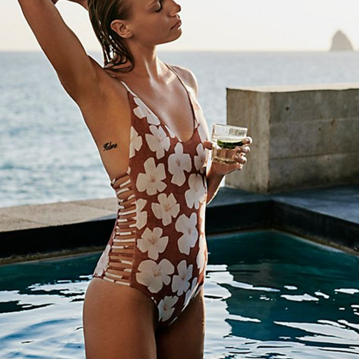 Design Sexy Printing One-Piece Swimsuit