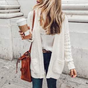 Knit Long Sleeve Cardigan Sweater Coat