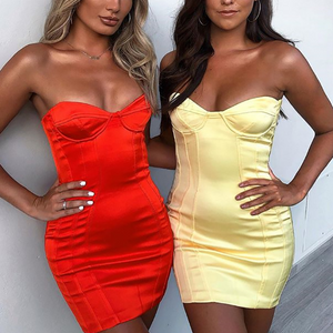 Sexy Solid Color Wrapped Halter Backpack Hip Dress