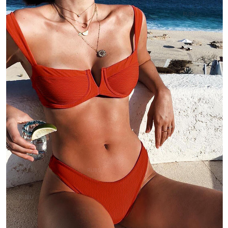 Women Sexy Split Swimsuit Bikini