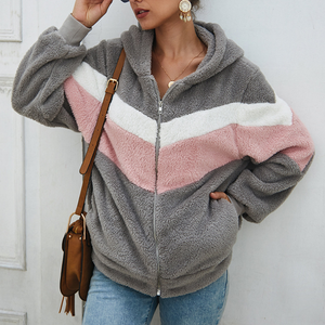 Long-Sleeved Hooded Sweater Coat