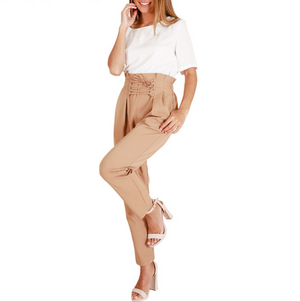 Women'S High Waist Khaki Pants