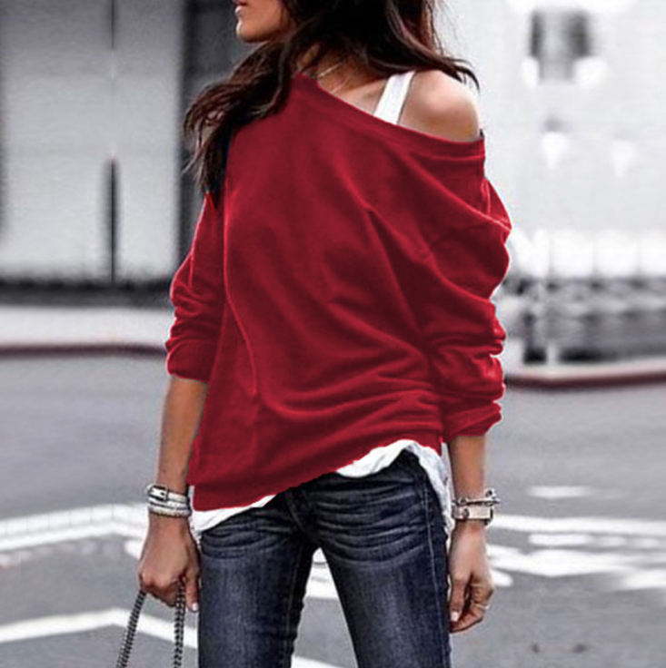 Fashion Round Neck Long Sleeve Sweater