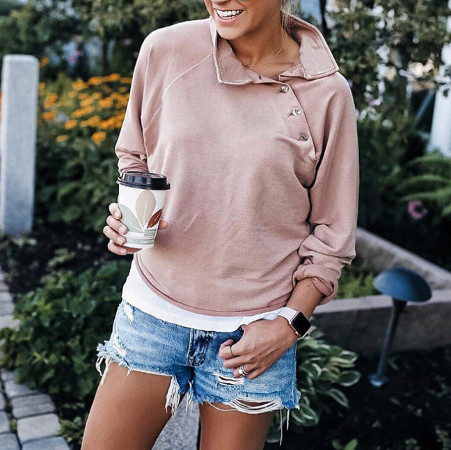 Button Long Sleeve Sweater