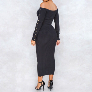 Women'S Knit Two-Piece Dress
