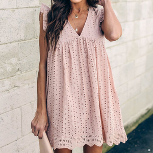Sweet V-Neck Lace Dress