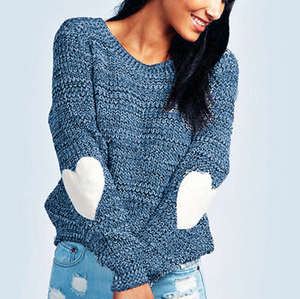 Round Neck Long Sleeve Knitted Sweaters
