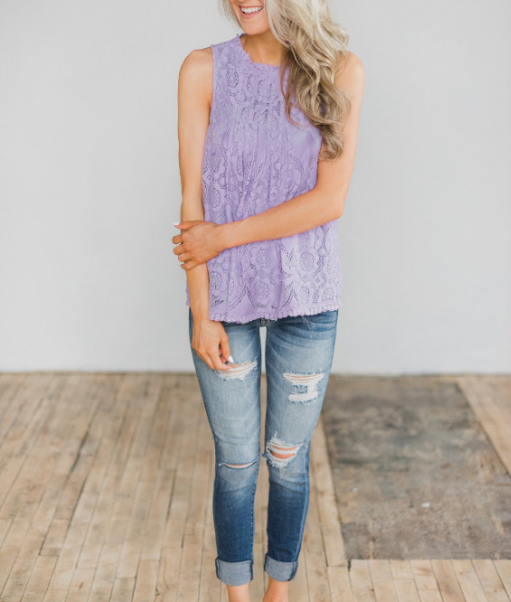 Lace Vest Sleeveless Tops