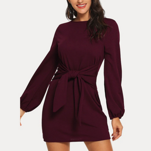 Long-Sleeved Large Size Dress