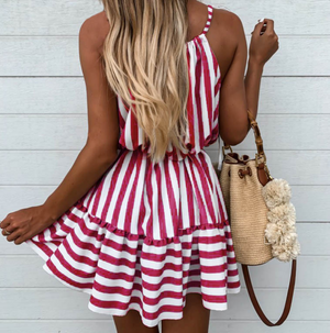 Sweet Stripe Sleeveless Dress