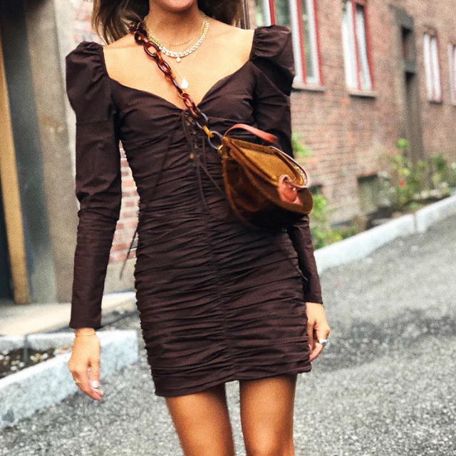 Slim Women's Sexy Long Sleeve Dress