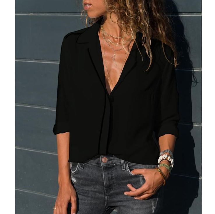 Women'S Slim Chiffon Shirt
