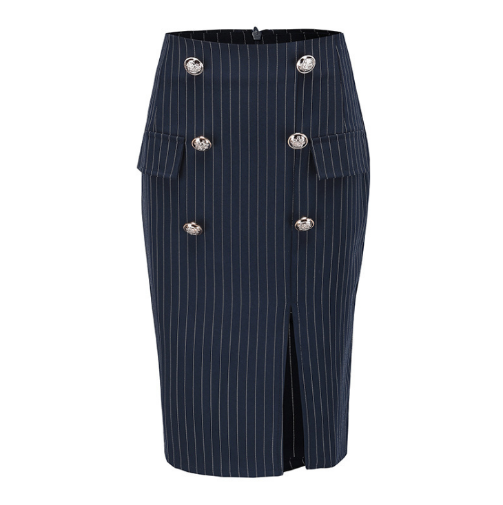 Women'S Fashion Striped Bag Hip Skirt