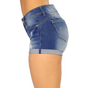 Hot Sexy Hole Night Club Frayed Edges Denim Shorts