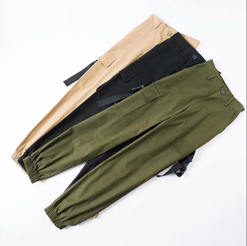 Casual High Waist Streetwear Cargo Pants