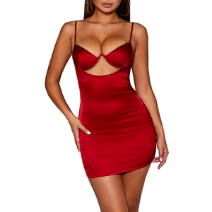 Sling Sexy Backless Package Hip Dress